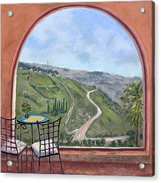 Window To Jerusalem Acrylic Print
