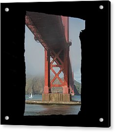 Acrylic Print featuring the photograph window to the Golden Gate Bridge by Stephen Holst