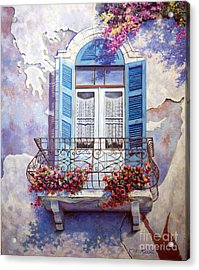 Window To The Mediterranean Acrylic Print