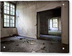 Window To Window - Abandoned School Acrylic Print by Dirk Ercken