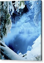 Window To Winter's Blues Acrylic Print