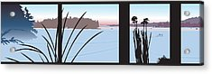 Window View Acrylic Print by Marian Federspiel