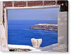 Window View To The Mediterranean Acrylic Print