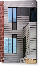 Window Wall Geometrics Acrylic Print by Kae Cheatham