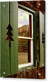 Window With A View  Acrylic Print by The Forests Edge Photography - Diane Sandoval