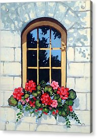Window With Flower Box Acrylic Print