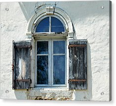 Window With Shutters Acrylic Print by Marion McCristall