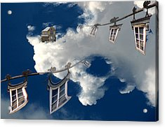 Windows And The Sky Acrylic Print by Christopher Woods