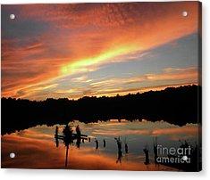 Windows From Heaven Sunset Acrylic Print