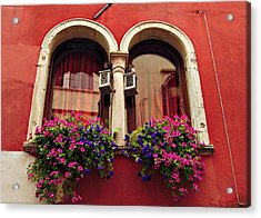 Windows In Venice Acrylic Print by Tamara Sushko