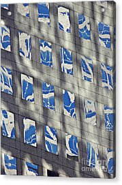 Acrylic Print featuring the photograph Windows Of 2 World Financial Center 3 by Sarah Loft