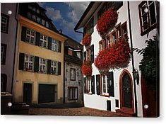 Windows Of Basel Switzerland  Acrylic Print