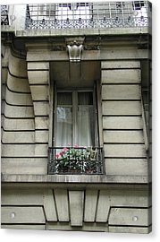 Acrylic Print featuring the photograph Windows Of Paris by Nancy Taylor