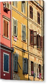 Windows Of Rovinj, Istria, Croatia Acrylic Print