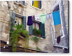 Windows Of Venice Acrylic Print