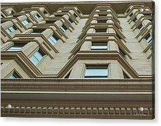 Acrylic Print featuring the photograph Windows To The World Atlanta Architecture Art by Reid Callaway