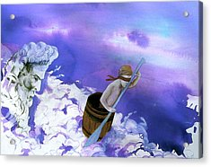 Acrylic Print featuring the painting Winds Of Fate  by Rene Capone