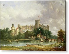 Windsor Castle - From The Thames Acrylic Print