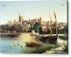 Windsor From The Thames   Acrylic Print by Robert W Marshall