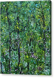Acrylic Print featuring the painting Windsor Way Woods by Judith Rhue