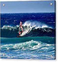 Acrylic Print featuring the photograph Windsurfer by Penni D'Aulerio