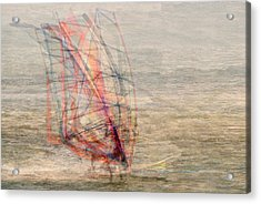 Windsurfers Acrylic Print by Denis Bouchard