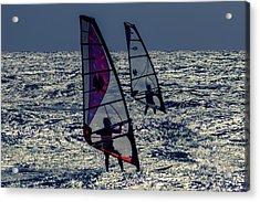 Windsurfers Acrylic Print by Stelios Kleanthous