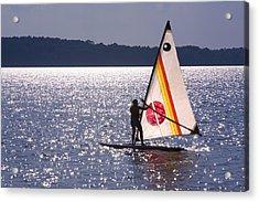 Windsurfing Lake Champlain Acrylic Print