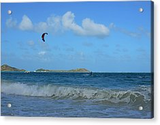 Windsurfing Orient Beach In Saint Martin Acrylic Print