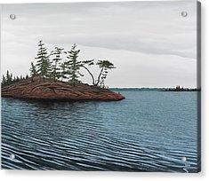 Windswept Island Georgian Bay Acrylic Print by Kenneth M  Kirsch