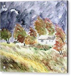 Windswept Landscape Acrylic Print