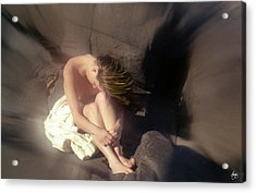 Acrylic Print featuring the photograph Windswept Nude by Wayne King