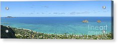 Windward Oahu Panorama II Acrylic Print by David Cornwell/First Light Pictures, Inc - Printscapes