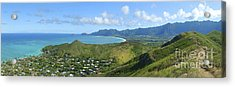 Windward Oahu Panorama IIi Acrylic Print by David Cornwell/First Light Pictures, Inc - Printscapes