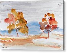 Windy Autumn Colours  Acrylic Print