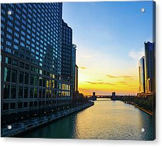Windy City Sunrise Acrylic Print