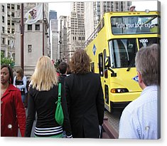 Windy City Walkabout Acrylic Print by Sylvia Wanty