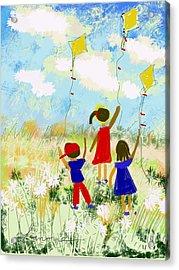 Windy Days Acrylic Print by Elaine Lanoue