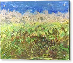 Windy Fields Acrylic Print