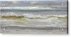Windy Hill Beach - Myrtle Beach, Sc Acrylic Print by Terri  Meyer