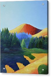 Windy Hill Triptych I Acrylic Print by Gary Coleman