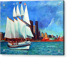 Windy In Chicago Acrylic Print by Michael Durst