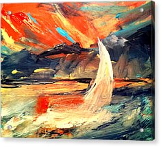 Windy Sail Acrylic Print
