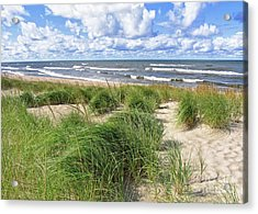 Windy Shoreline Acrylic Print by Kathi Mirto