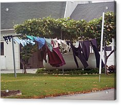 Windy Washday Acrylic Print