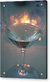 Wine And Candlelight Acrylic Print by Gail Salitui