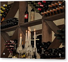 Wine And Candles  Acrylic Print by Rose  Hill