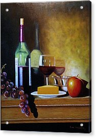 Wine And Cheese Acrylic Print by Gene Gregory
