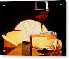 Wine And Cheese Acrylic Print