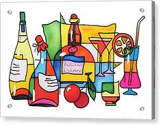 Wine And Cocktail Acrylic Print by Tatiana  Antsiferova